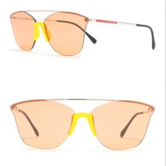 NWT PRADA LINEA ROSSA 64mm Cat Eye Sunglasses